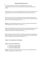 Klassenarbeit Leserbrief