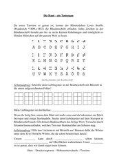 Tastsinn und Brailleschrift