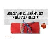 Rollmäppchen für Nähutensilien - mit Erklärvideo