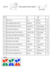 4teachers lehrproben unterrichtsentw rfe und - Eigenschaften der fabeltiere ...