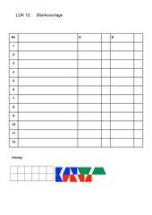 12er LÜK: Blanko-Dokument zum Erstellen eigener LÜKs