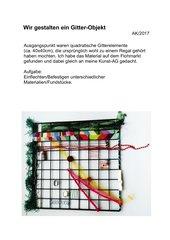 Gitter-Kunstwerk