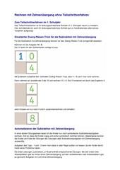 Rechnen mit Zehnerübergang ohne Teilschrittverfahren