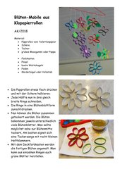 Blüten-Mobile aus Papprollen