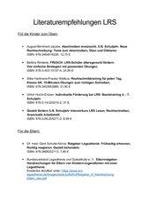 Literaturempfehlungen LRS