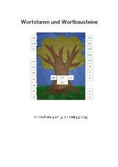Wortstammbaum - Wortstamm und Wortbausteine
