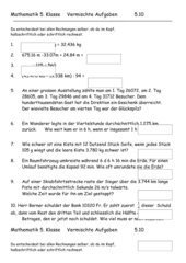 Mathematik Repetition 5. Klasse