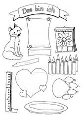 Steckbrief / Ich-Brief für Schulanfänger mit Fuchs (geeignet fürs Grundschulportfolio Klasse 1)