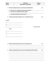 Deutschland Probe Klassenarbeit 7. Kl