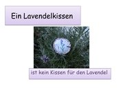 Ein Lavendelkissen
