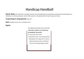 Handicap Handball