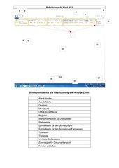 Bildschirmansicht/Anwendungsfenster Word 2013