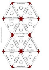 Trimino zu den Substantiven der Lektionen 1-5 des neuen Lehrbuchs Roma