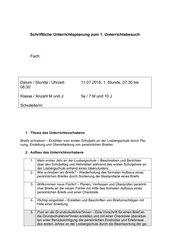 Brief an die ehemaligen LehrerInnen