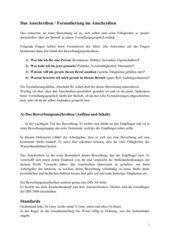 Bewerbungsanschreiben - Aufbau und Inhalt