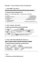 A2 Verben und Präpositionen mit Dativ und Akkusativ