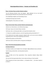 Checkliste Materialgestütztes Erörtern