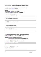 Konjunktiv II Gegenwart, Wenn-Sätze, Niveau B1