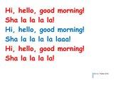 Good Morning Song - Hi, hello, good morning!