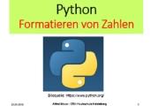 Python – Formatierung von Zahlen