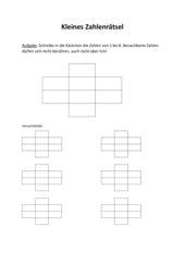 kleines Zahlenrätsel mit den Ziffern 1 bis 8
