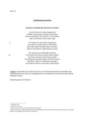 Gedichtinterpretation Karoline von Günderode:
