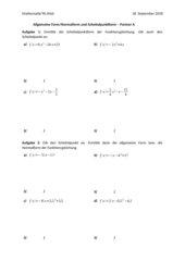 Umwandlung von der Scheitelpunktform in die Allgemeine Form und umgekehrt -Tandembogen