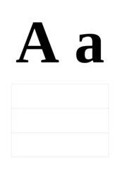 Alphabet - Druck- und Schreibschrift