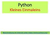 Python - Wiederholung - geschachtelt - kleines Einmaleins - Formatierung