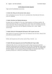 Einführung Ägypten - Tipps zur Auswertung einer Geschichtskarte