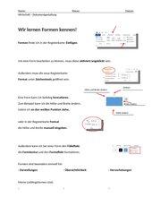Formen im Schreibprogramm Word - Lösungen