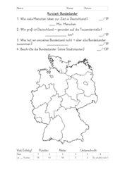 Kurztest Bundesländer ohne Hauptstädte