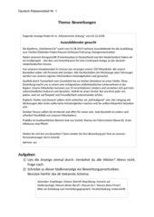 Klassenarbeit/Klausur Bewerbungsanschreiben