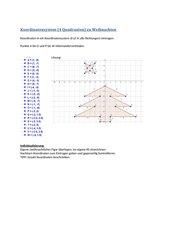 Koordinatensystem (4 Quadranten) Weihnachten