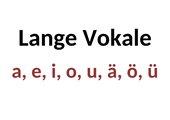 Plakat - lange Vokale