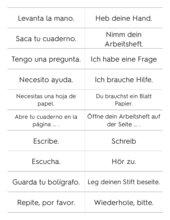 frases en la clase de español