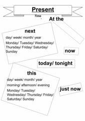 Timewords present progressive