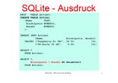 170 Datenbanken - SQLite arithmetische Operatoren und Ausdrücke
