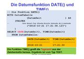 210 Datenbanken - SQLite - Datums und Zeitfunktionen detailliert