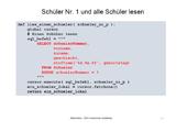 240 Datenbanken - SQLite - Datenbank und Python - Applikation Schule