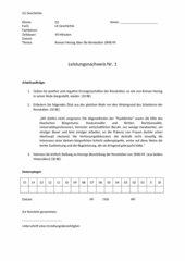 Klausur zur Revolution 1848/ 1849 - Analyse einer Rede von Roman Herzog