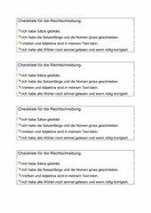 Checkliste Rechtschreibung