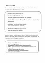Tipps zum Schreiben einer Inhaltsangabe