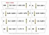 Kreisdomino Dividieren mit Dezimalzahlen (Kopfrechnungen)