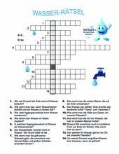 Rätsel zum Thema Wasser
