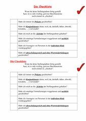 kurze Checkliste für eine Stellungnahme