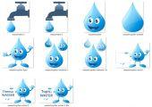 Wasser-Grafiken-Paket