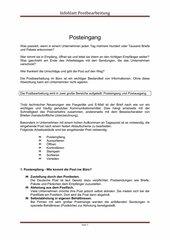 Postbearbeitung Infoblatt Posteingang