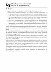 Office Schulung: Tabellenkalkulation und Textverarbeitung