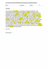 Diktat und Rechtschreibüberprüfung